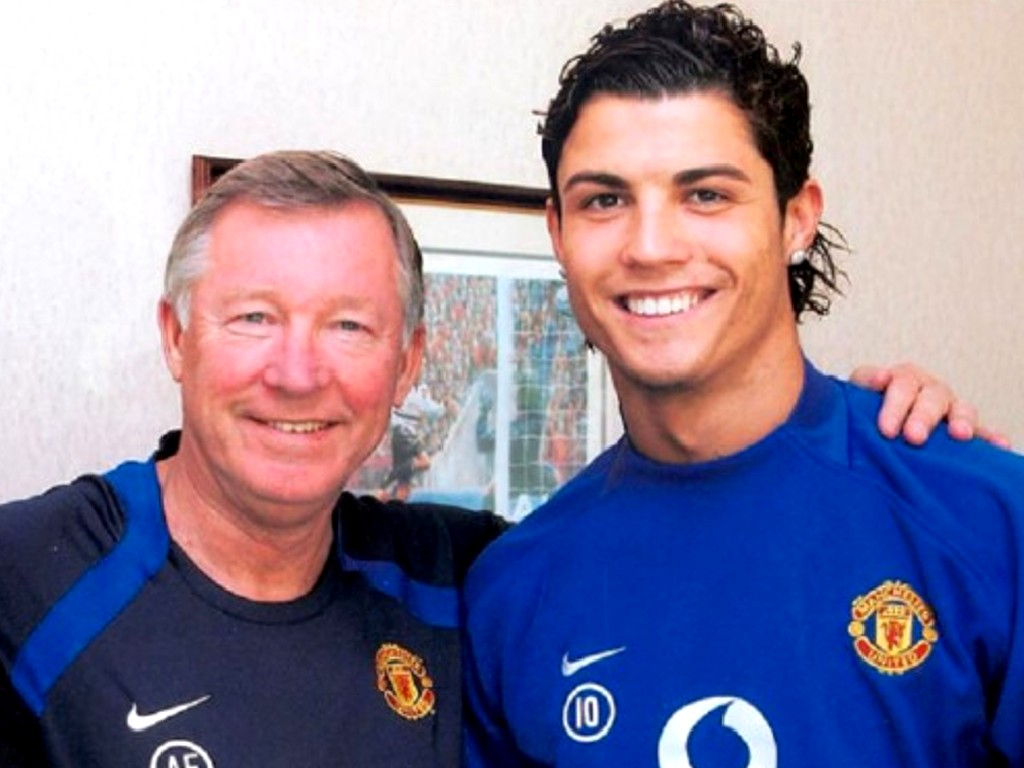 Cristiano Ronaldo dan Sir Alex Ferguson