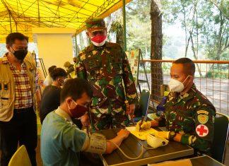 Taman Matahari Puncak Jadi Target Serbuan Vaksinasi Korem 061/SK