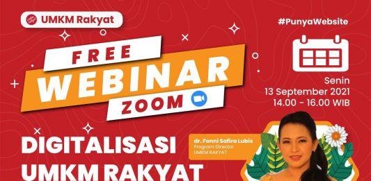Webinar Digitalisasi UMKM Rakyat Indonesia