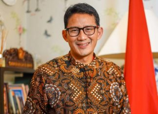 Menteri Pariwisata dan Ekonomi Kreatif (Menparekraf) RI Sandiaga Uno.